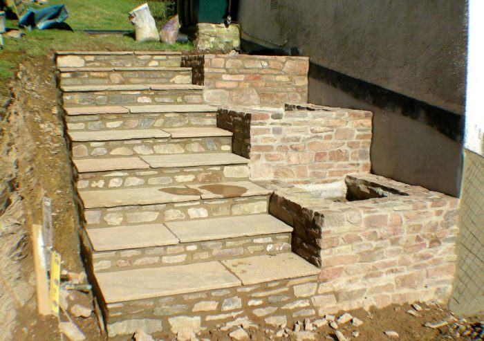 Paved Steps made by West Somerset Landscaping